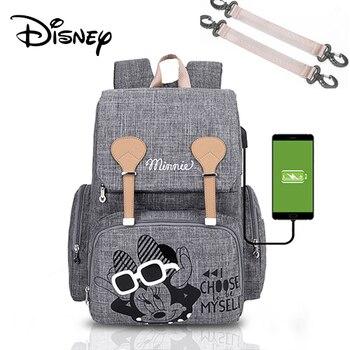 Disney Pre-design Cartoon Baby Diaper Bag Waterproof Baby Bag Organizer Nappy Maternity Bag For Stroller Mom Travel Free Hooks - 3