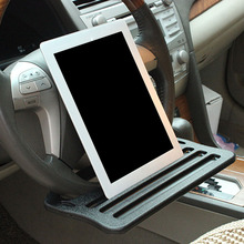 Portable Car Steering Wheel Laptop Food Tray Stand Notebook Dinning Office Desk Table