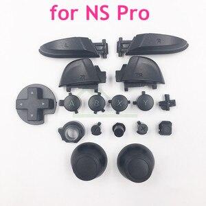 Image 1 - Esquerda direita lr zl zr abxy botões conjunto manivela joystick boné substituição para nintend interruptor pro para ns pro controlador