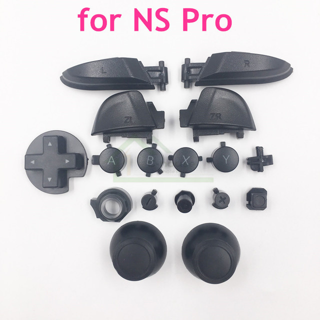 Esquerda direita lr zl zr abxy botões conjunto manivela joystick boné substituição para nintend interruptor pro para ns pro controlador