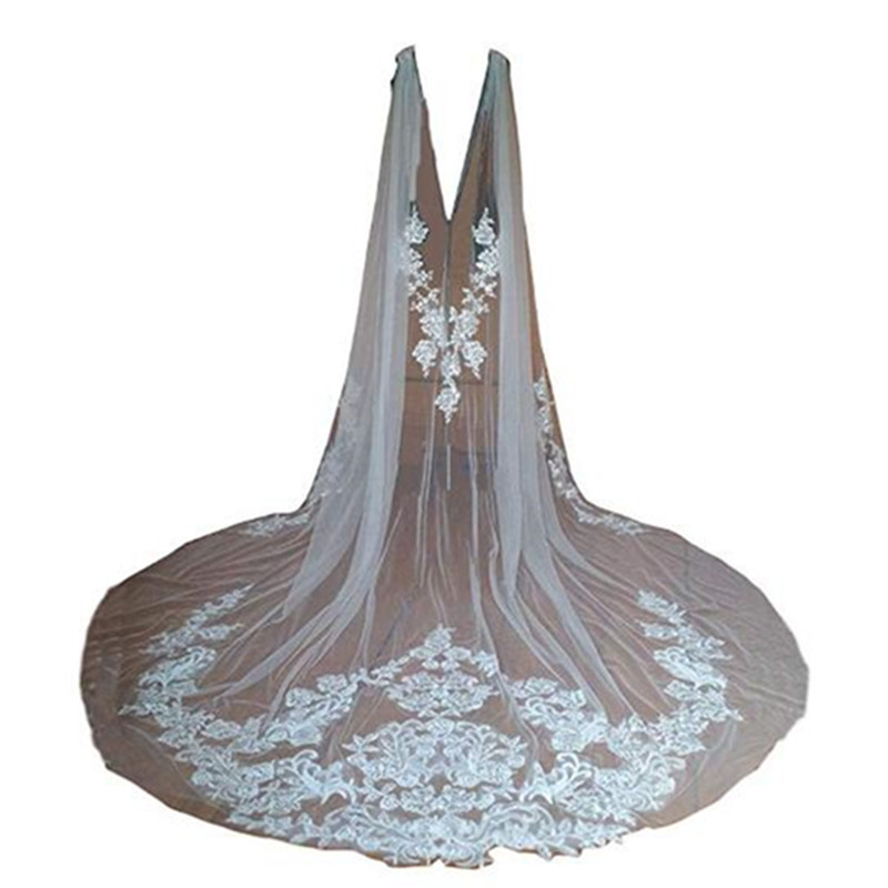 Cathedral Length Bridal Wraps Jackets Boleros White Ivory Women Bridal Accessories Brides Cloaks Mantles Wedding Capes Shawls