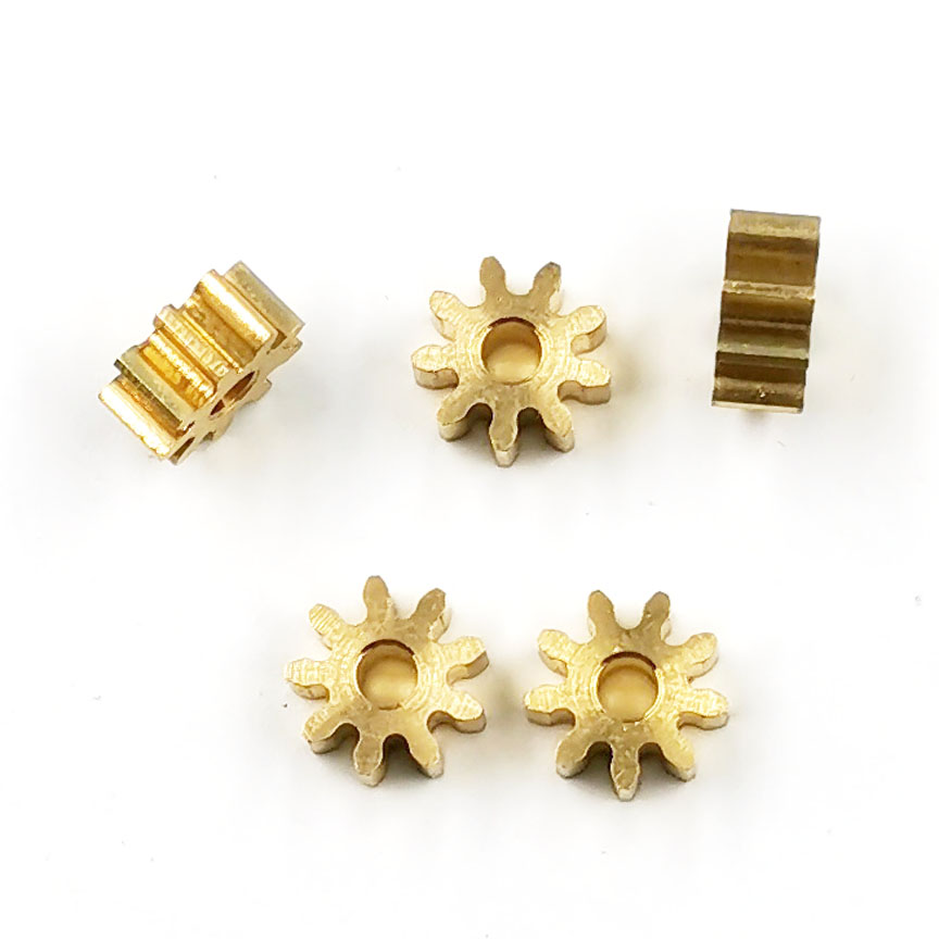 9T 2A 0.6M Copper Gear 9 Teeth Holes 1.98mm Thickness 3mm/ 6mm Metal Small Modulus Pinion 6.6mm Diameter 5PCS/lot
