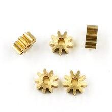9 T 2A 0,6 M медная шестерня 9 зубьев отверстия 1,98 мм толщина 3 мм/6 мм металлический маленький модуль шестерни 6,6 мм Диаметр 5 шт./лот