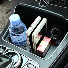 цена на Car central storage box Accessories cup holder For Mercedes Benz C class W205/GLC Class X253/E class W213 e200 e300l