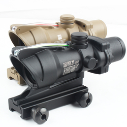 Оптический Прицел ACOG 4X32, оптика из настоящего волокна, прицел с подсветкой и шевроном, тактический оптический прицел с сеткой
