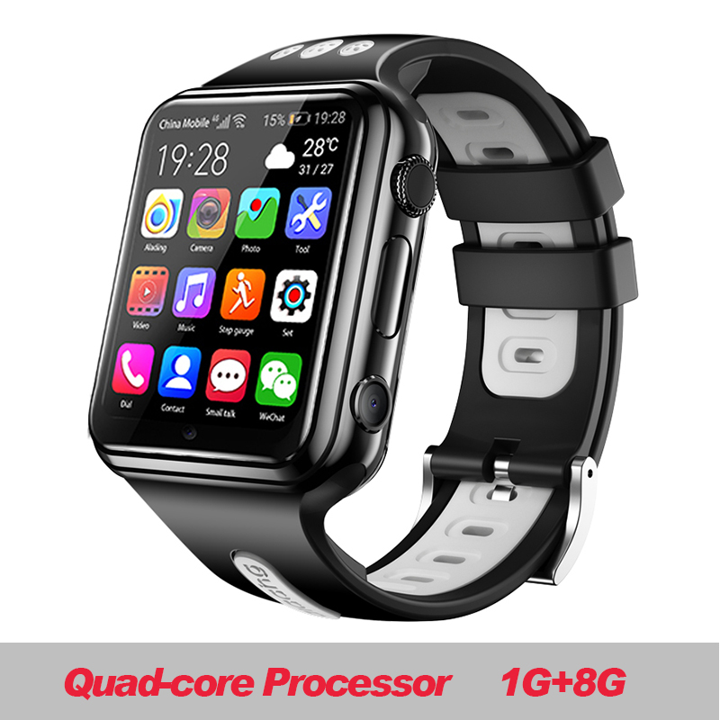 W5 2020 NFC Waterproof 4G Smartphone Watch Downloadable APP MP4 Play Smart Voice Ak Ll Saat Smart Watch Ios 4g Amazfit Stratos image