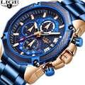 2019 LIGE Новые Топ люксовый бренд мужские часы кварцевые мужские часы дизайн спортивные часы водонепроницаемые наручные часы из нержавеющей с...