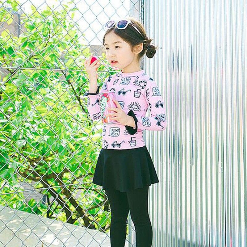 2019 New Style South Korea Cute GIRL'S Swimsuit Split Type Tour Bathing Suit Infants Princess Sun-resistant Trousers Skirt Swimw