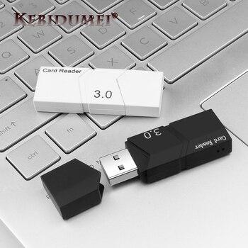 Kebidumi lector de tarjetas USB 3,0 TF tarjeta Micro SD Adaptador convertidor inteligente de alta velocidad USB 3,0 lector de tarjetas de memoria para Windows Mac