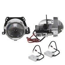 цена на 2 PCS 2.5 Inch Mini Bi LED Projector Lens RHD LHD for jetta mk5, for Prior Lada VAZ 2170, for mondeo mk3, for BMW E34 E61 E36