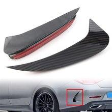 Estilo de fibra de carbono de parachoques trasero para coche, divisores de aletas para Mercedes Benz CLS C257 CLS450 CLS53 AMG 2018 2019 2020 ABS, 2 uds.