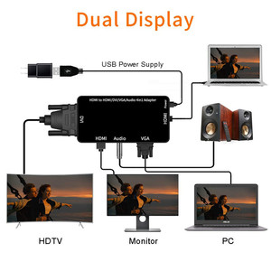 Image 2 - HDMI Adapter HDMI to VGA DVI HDMI Synchronous Display 1080P 4 in 1 Video Audio HDMI Converter