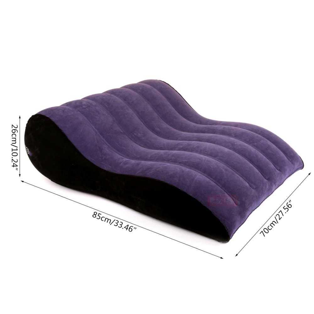 Sex Wedge Sofa łóżko nadmuchiwane meble dla dorosłych Bdsm krzesło Sexy poduszka zabawki dla pary pozycje miłości poduszka huśtawka meble