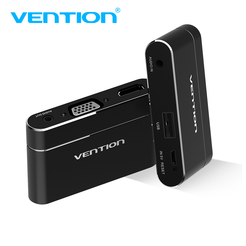 Vention USB to HDMI VGA Audio Video Converter 3 in 1 USB Digital AV Adapter For iPhone 8 Android USB Audio Adapter For Samsung    1