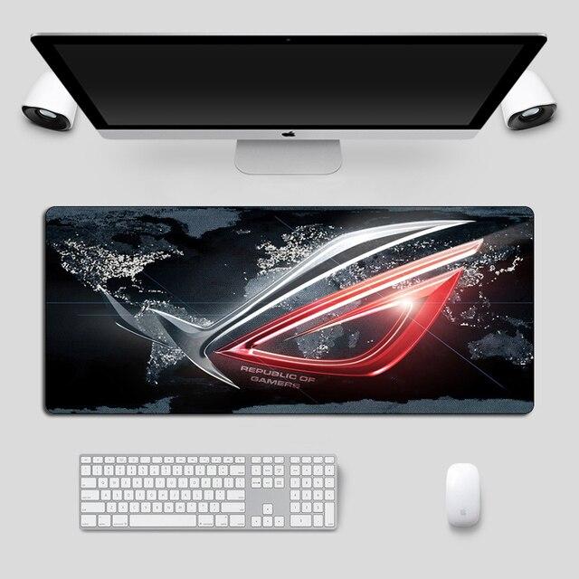 Mousepadขนาดใหญ่ASUS Non SkidยางRepublic Of Gamers Gaming Mouse Padแล็ปท็อปโน้ตบุ๊คสำหรับCSGO Dotaแป้นพิมพ์Pad