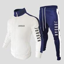 2021 dos homens novos terno moletom + moletom moletom moletom com zíper gola esportiva jogging roupas masculinas casuais