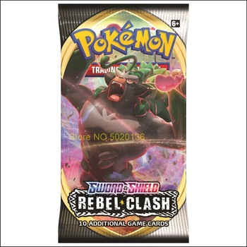 324Pcs Pokemon Cards TCG: Sword & Shield Rebel Clash Booster Box Collectible Trading Card Game 2020 Newest Kids Toys 2