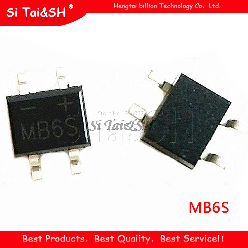 5 mb6s Bridge Diode Rectifier 600v 0.5a SMD sop-4 CS