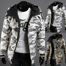 Мужская куртка, Рождественская, осенняя и зимняя, теплая, камуфляжная, с принтом, пальто для мужчин, на молнии, с длинным рукавом, простая, удобная куртка