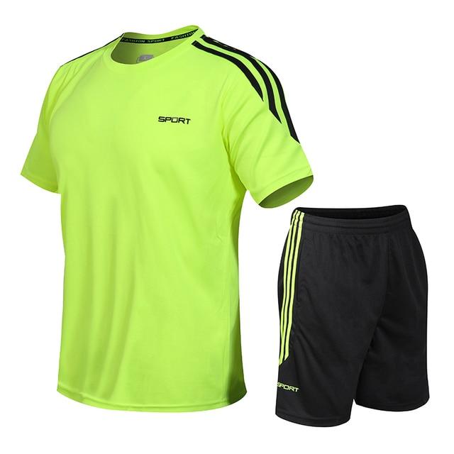 Mens Tracksuits Set 2020 Summer Men Shorts Sets New Sportswear Short-Sleeved Shirts +Shorts Casual Outwear Man Sport Sweat Suits 3