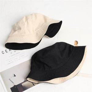 New light board pure cotton double-sided wearable bucket hat men women outdoor leisure wild fisherman hat fashion summer sun hat(China)