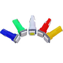 10 Uds T5 LED 17 37 73 74 5050 Auto T5 lámpara para el tablero de instrumentos del coche instrumento luz indicadora de LED Bombilla 12V blanco Azul Rojo amarillo verde