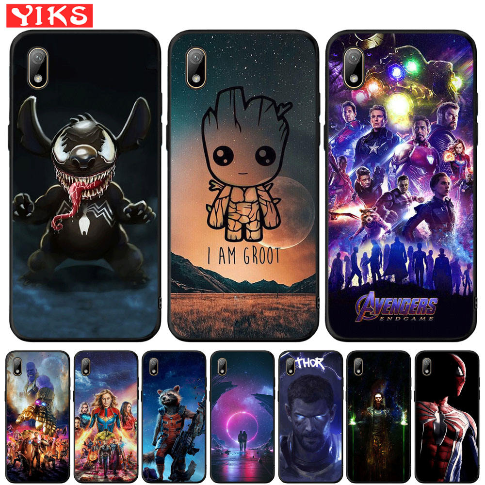 Cute Groot Stitch Marvel Avengers Case For Honor 8S P Smart Z Cover For <font><b>Huawei</b></font> Y5 <font><b>Y6</b></font> Prime 2018 <font><b>2019</b></font> Y7 Y9 Prime <font><b>2019</b></font> Fundas image