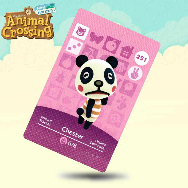251 Chester Animal Crossing Card Amiibo Cards Work For Switch NS 3DS Games