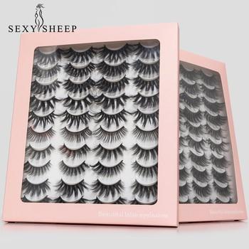 8/20 Pairs 3D Mink Lashes Natural False Eyelashes Dramatic Volume Fake Lashes Makeup Eyelash Extension Silk Handmade Eyelashes