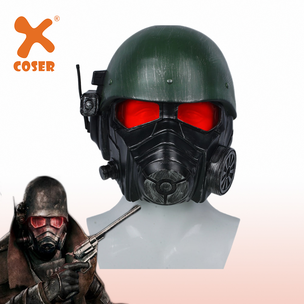 XCOSER Fallout 4 Veteran Ranger Helmet Game Cosplay Full Head Headwear Riot Armor Halloween Party Cosplay Costume Props For Men image