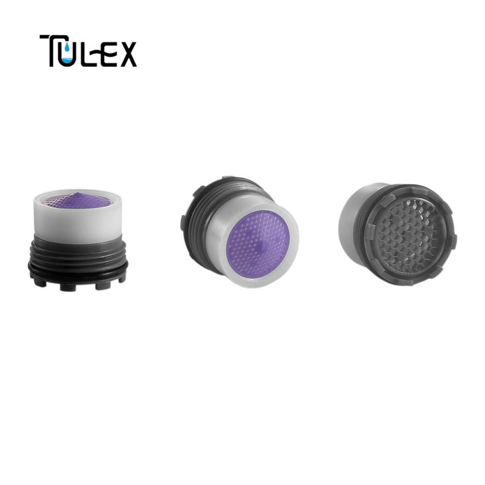 TULEX Faucet Aerator Water Saving 16.5MM Male Thread 6- 8L/Minute Spout Bubbler Filter Tap Accessories Hide-in Core Part