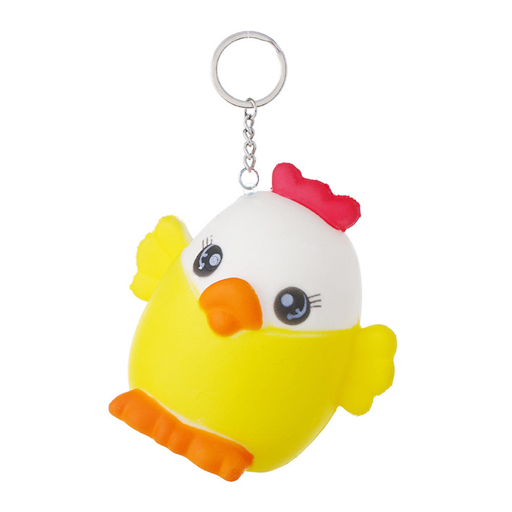 Mini Yellow Cute Chick Slow Rising Relieve Stress Toy Exquisite Fun Cute Backpack Key Decorations Squeeze Child Toys #B