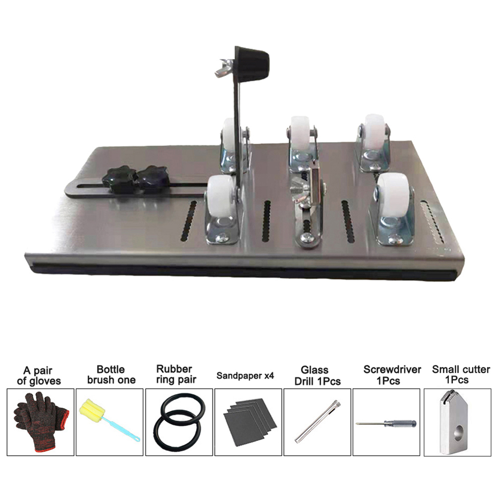 Beer Wine Jar Accurate Cutting Machine DIY Recycle Cutting Tool Kit Glass Bottle Cutter Stainless Steel Smoothly Cutting
