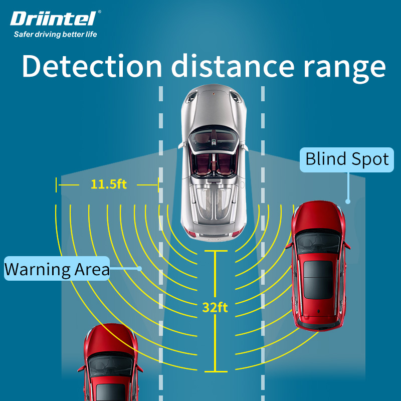 Driintel Millimeter Wave Radar Blind Spot Monitoring BSD BSA BSM Microwave Radar Blind Spot Monitoring Change Lane Aided Parking