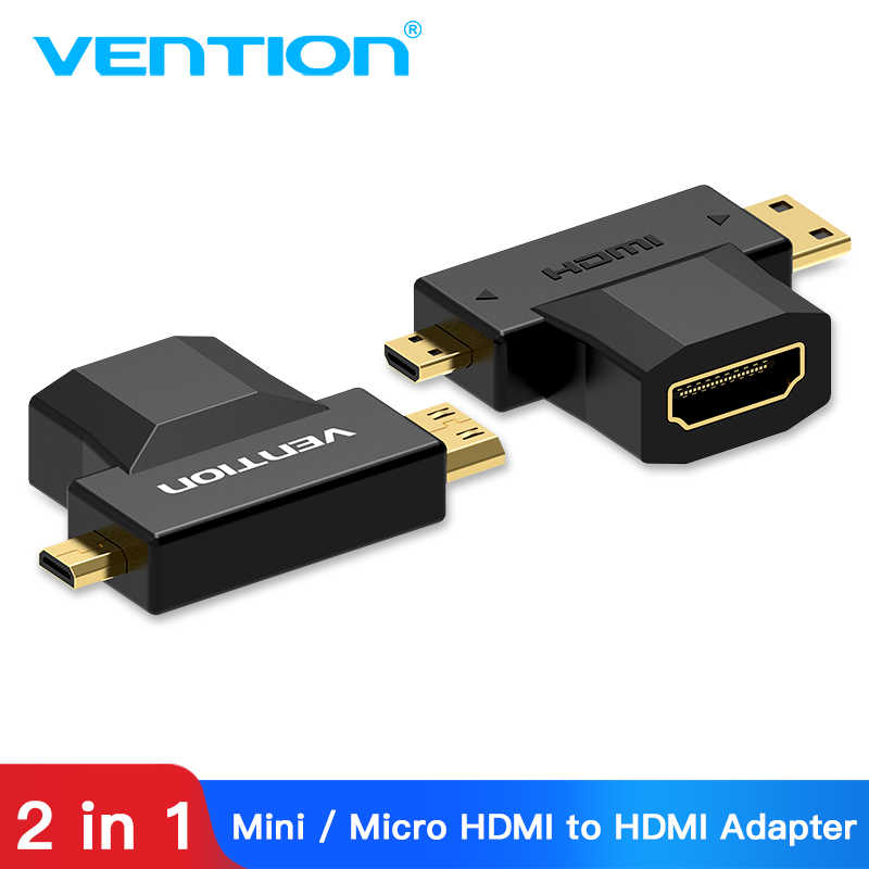 Vention Micro HDMI to HDMI Adapter 3D 1080P Mini HDMI Male to HDMI Female Converter for TV Monitor Projector Camera Micro HDMI