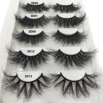 100% Mink Lashes 25mm 3D Mink Eyelashes Extension Makeup Natural False Eyelashes Fluffy Messy Lash Extension Fake Eyelashes