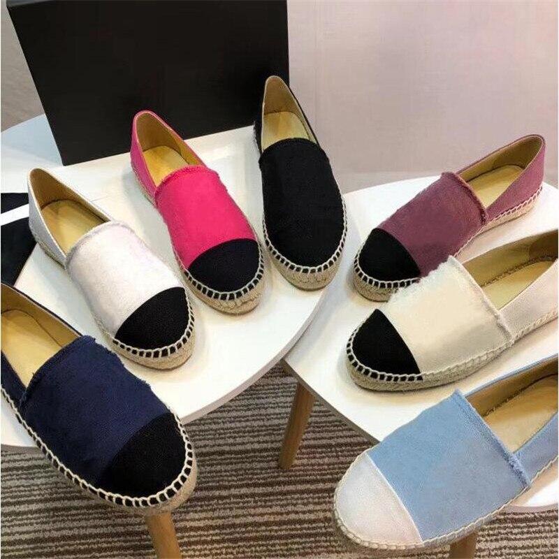 Mocassins boca rasa deslizamento em apartamentos de tricô macio para mulheres moda confortável couro genuíno sapato feminino Size35 42