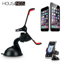 Windshield Car Phone Holder Mount Stand Universal For iPhone Huawei GPS 360 Rotating Clip Adjustable Cell Phone Sucker Bracket