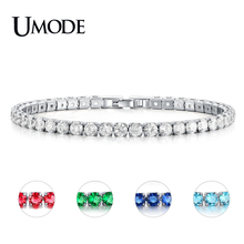 UMODE Fashion Charm CZ Tennis Bracelets for Women Men Colorful Zircon Jewelry Box Chain Braclets Gift Bracelet Pulseira AUB0097X