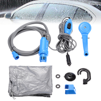 Blue Portable Camping Shower Kit Car Washer Tool DC 12V Pump Pressure Outdoor Travel Caravan Van Pet Water Tank Supplies