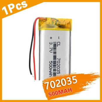 3.7V 500mAh 702035 Lithium Polymer Rechargeable Battery Accumulator Li ion lipo cell For Toy MP3 MP4 MP5 GPS BT Speaker Headset image