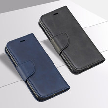 Flip deri kılıf Xiaomi Redmi için 7A kapak MZB7995IN yumuşak TPU cüzdan kitap çantası Xiaomi RedMi 7 M1810F6LG iş mıknatıs kılıfları