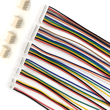 10 комплектов MICRO JST 1,25 мм Шаг гнездовой разъем провод 10 см 20 см 30 см 28AWG 2/3/4/5/6/7/8/9/10/11/12 контактов с прямым штифтом разъем