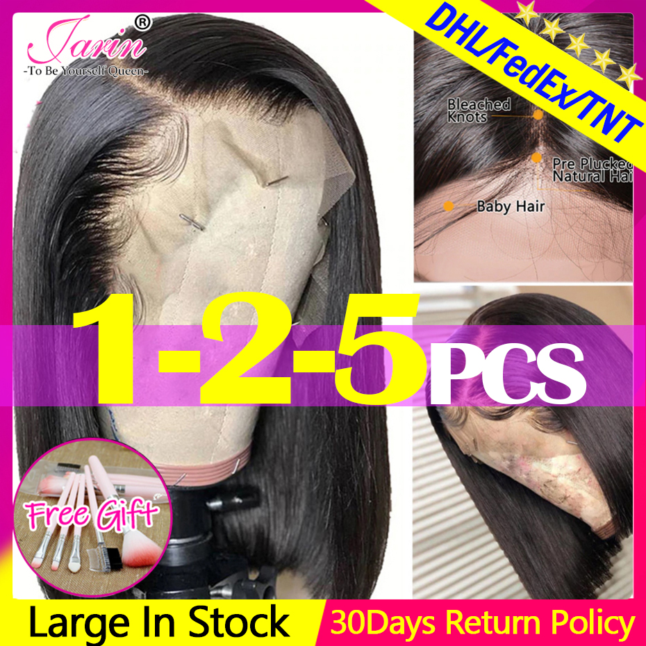 Straight Short Human Hair Wigs Lace Frontal Wig Straight Bob Lace Front Wigs Jarin Hair Malaysian Lace Front Human Hair Wigs