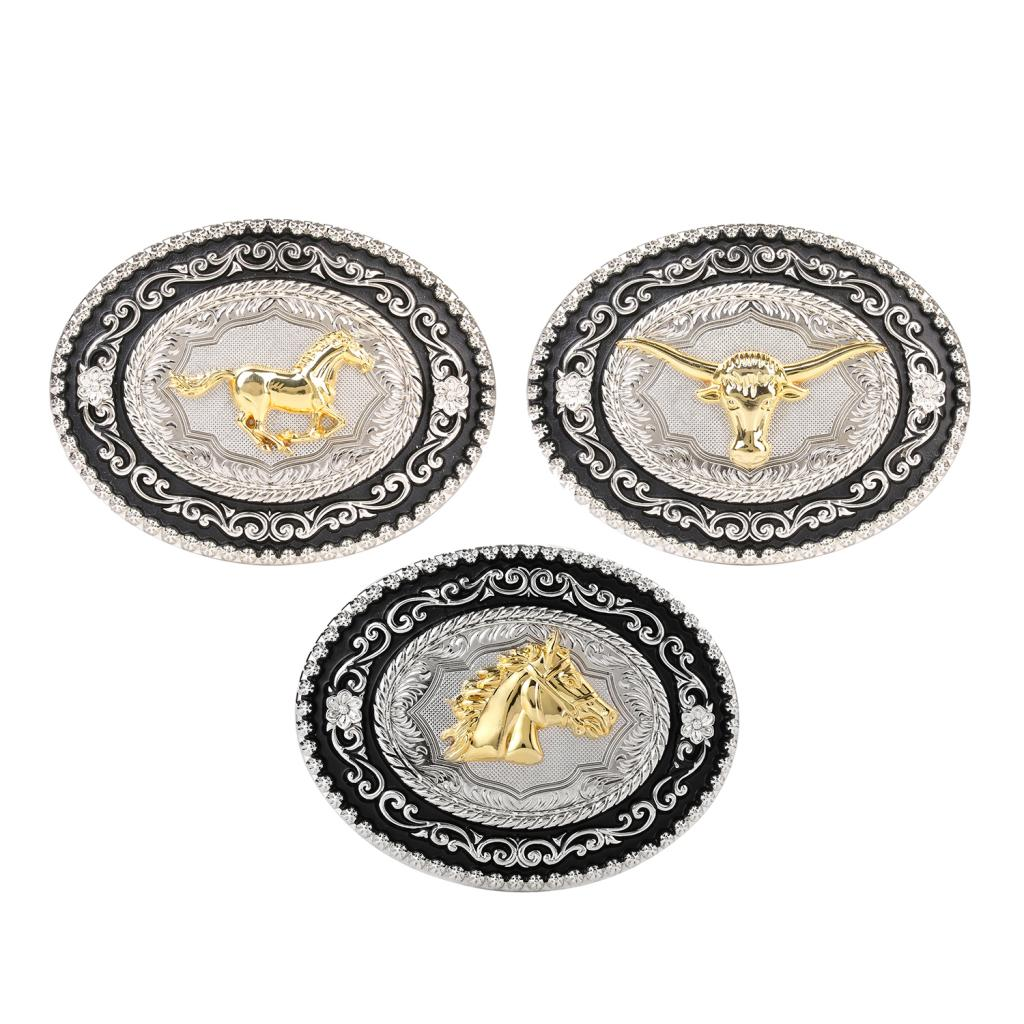 Western Indian Belt Buckle Embossed OX Head Rodeo Texas Buckle Replacement
