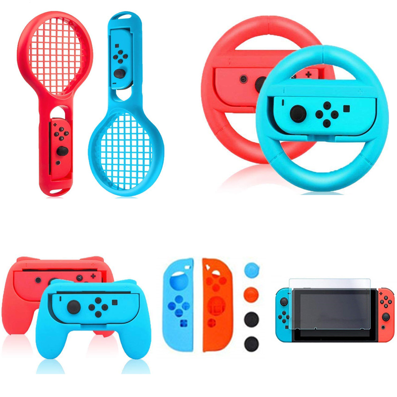 Controller Hand Grips Joy-Con Case Tennis Racket Steering Wheel For Nintend Switch Handle NS N-Switch Game Console Accessories