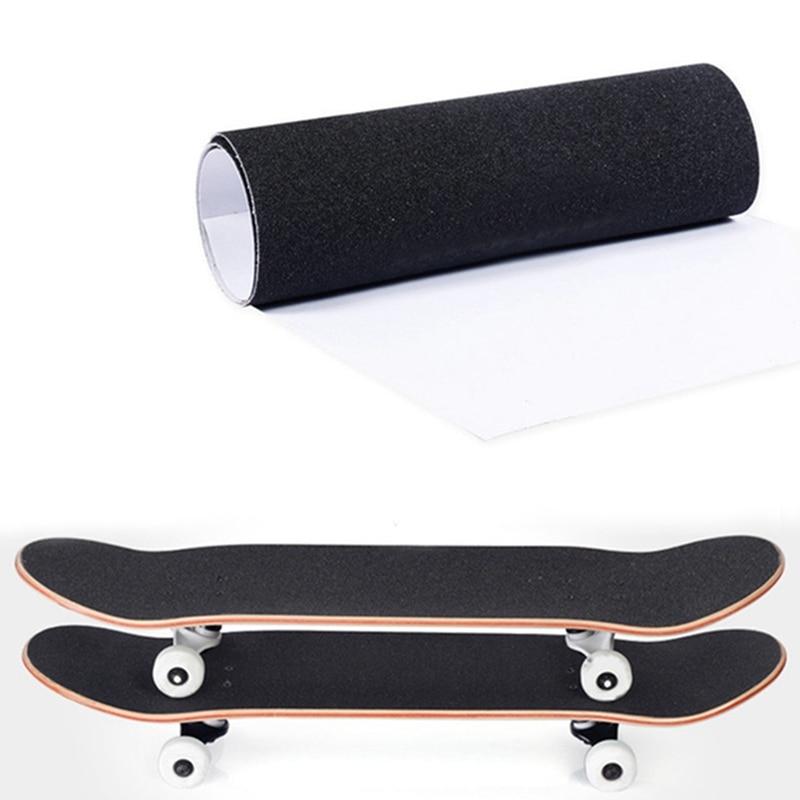 83*23cm Professional Skateboard Deck Sandpaper Grip Tape Skating Board Longboard Sandpaper Griptape Skating Board Sticker Black