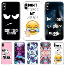 For Xiaomi Mi A1 A2 A3 5X 6X 8 9 9t Lite SE Pro Mi Max Mix 1 2 3 2S Buy Silicone Phone Case Do Not dont Touch My Phone(China)