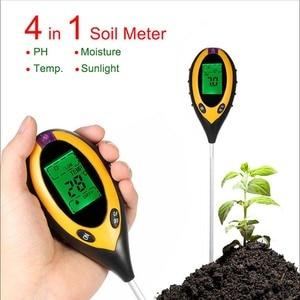 Zk30 3/4 em 1 solo medidor de ph tester ph umidade medidor temperatura luz solar medição intensidade análise acidez alcaloide