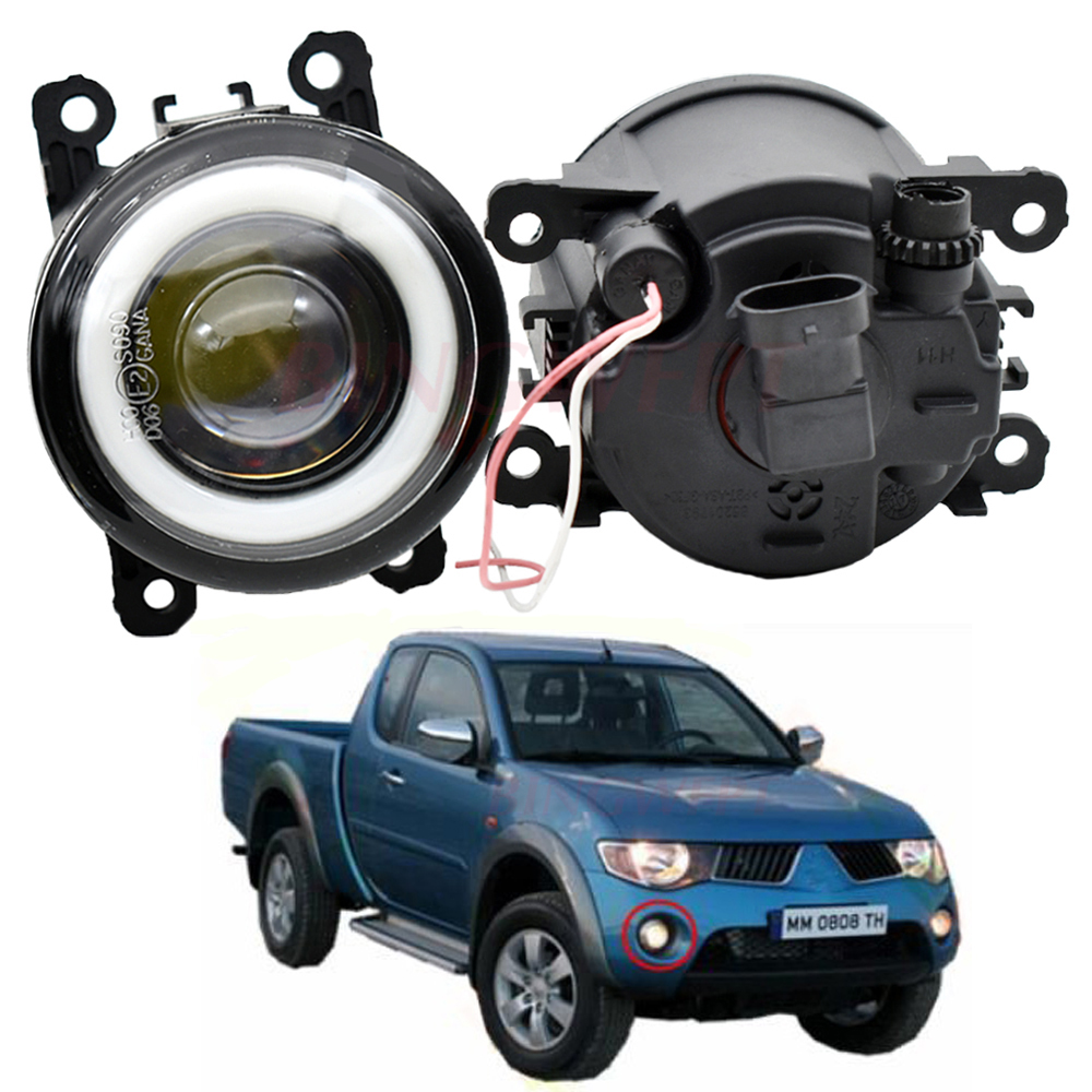 2x Car LED Fog <font><b>light</b></font> Angel Eye Daytime Running Lamp DRL For <font><b>Mitsubishi</b></font> L200 Triton ML MN <font><b>Outlander</b></font> 2 Pajero 4 For <font><b>Mitsubishi</b></font> ASX image